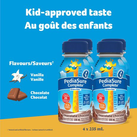 PediaSure Complete, nutritional supplement, 4 x 235 mL, Chocolate - image 2 of 8