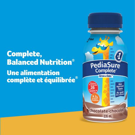 PediaSure Complete, nutritional supplement, 4 x 235 mL, Chocolate - image 3 of 8