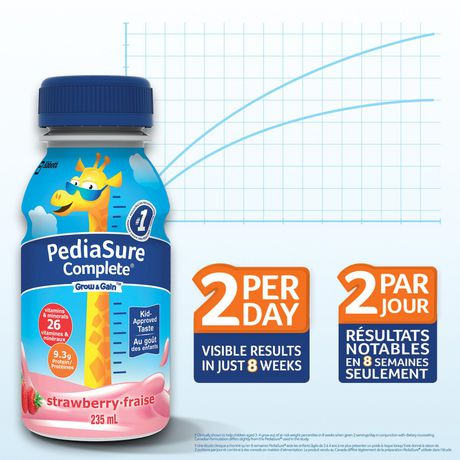 PediaSure Complete, nutritional supplement, 4 x 235 mL, Strawberry - image 2 of 7