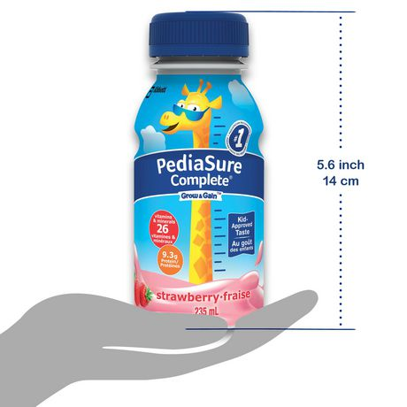 PediaSure Complete, nutritional supplement, 4 x 235 mL, Strawberry - image 6 of 7