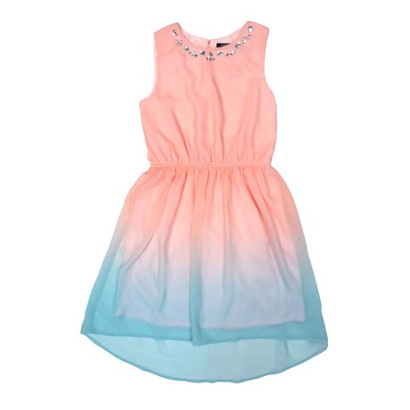 Girls High Low Chiffon Dress