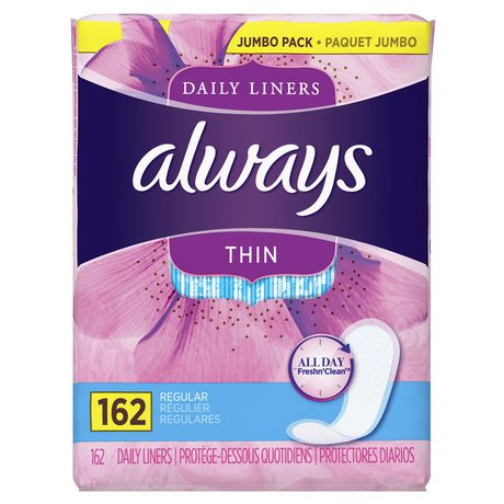 Always Thin Regular Unscented Pantiliners - image 1 of 5