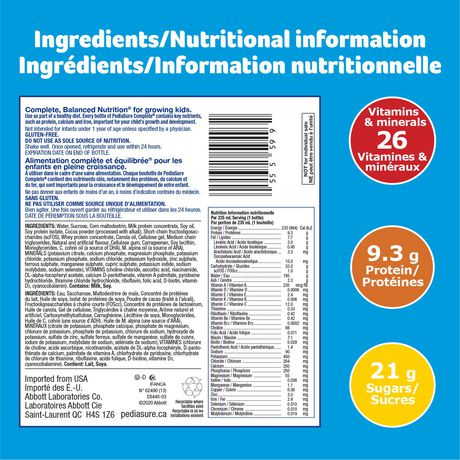 PediaSure Complete, nutritional supplement, 4 x 235 mL, Chocolate - image 6 of 8