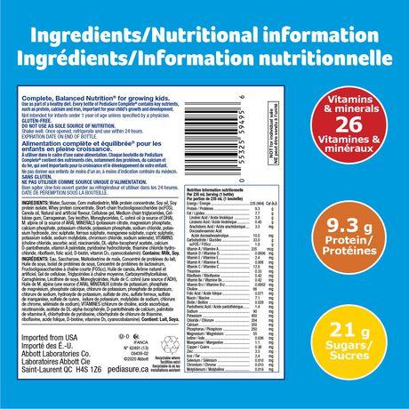 PediaSure Complete, nutritional supplement, 4 x 235 mL, Vanilla - image 5 of 7