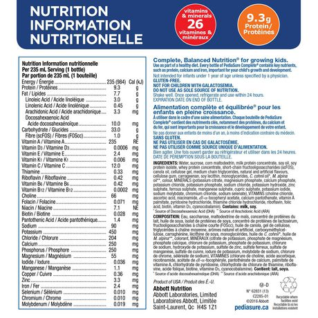 PediaSure Complete, nutritional supplement, 4 x 235 mL, Strawberry - image 5 of 7