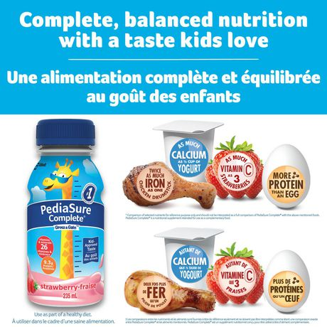 PediaSure Complete, nutritional supplement, 4 x 235 mL, Strawberry - image 4 of 7