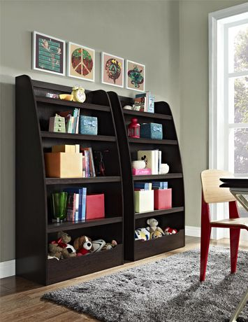Ameriwood Mia Kids' 4 Shelf Bookcase, Espresso   Walmart ...