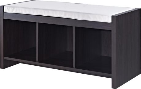 Penelope Entryway Storage Bench with Cushion, Espresso - image 6 of 8