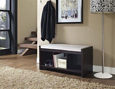 banquette d entr e et de rangement penelope avec coussin. Black Bedroom Furniture Sets. Home Design Ideas