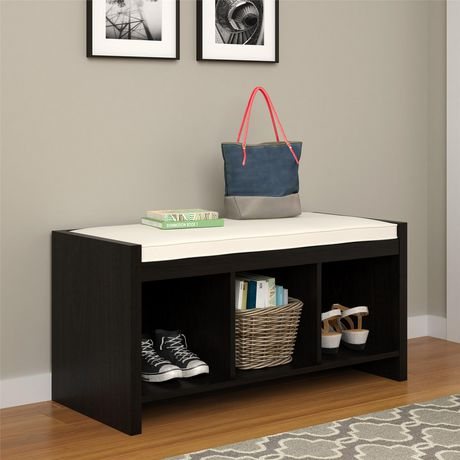 Penelope Entryway Storage Bench with Cushion, Espresso - image 1 of 8