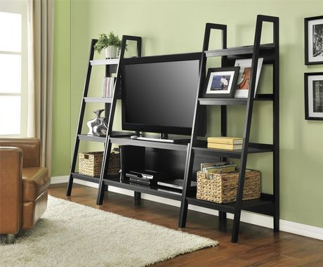 """Lawrence Ladder TV Stand for TVs up to 45"""", Black - image 4 of 7"""
