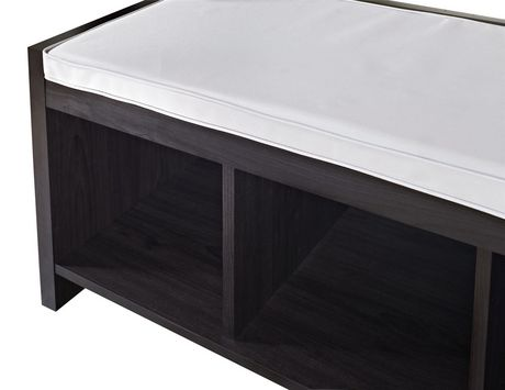 Penelope Entryway Storage Bench with Cushion, Espresso - image 7 of 8