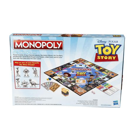 Monopoly Toy Story Board Game Family and Kids - image 4 of 9