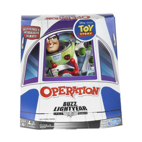 Le jeu de société Opération avec un thème Toy Story de Disney Pixar