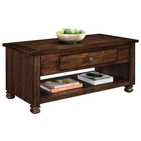San Antonio Wood Veneer Coffee Table Walmart Canada