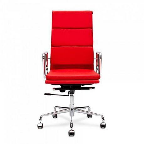 Office Chair, Lark high back in red color. Chrome base - image 1 of 1