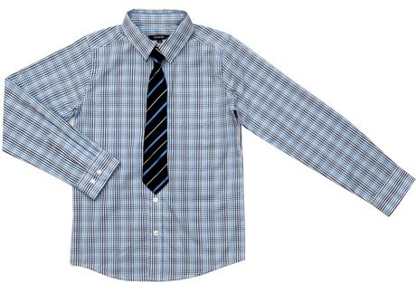 George Boys' Long Sleeve Dress Shirt with Tie - image 1 of 1