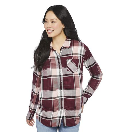 George Women's Core Button-Up Shirt - image 1 of 6
