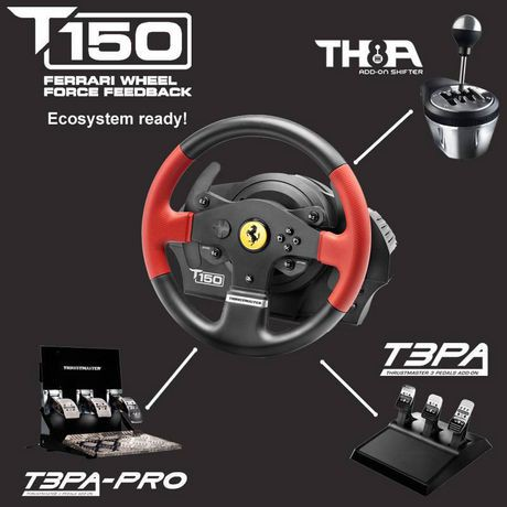 volant de course t150 rs de thrustmaster pour ps4 windows pc walmart canada. Black Bedroom Furniture Sets. Home Design Ideas