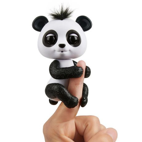 Fingerlings Glitter Panda   Drew (White & Black)   Interactive Collectible Baby Pet   By Wow Wee by Fingerlings