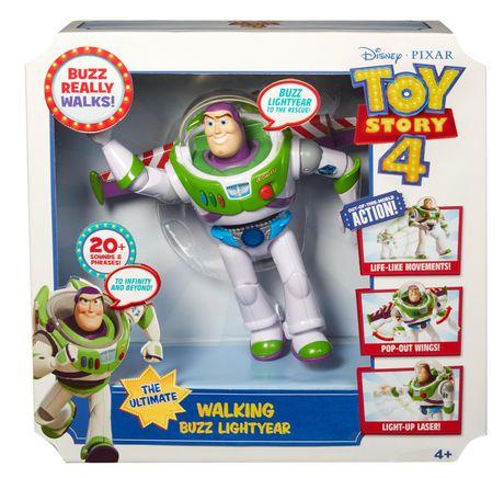 NEW NIB Disney Pixar Toy Story 4 The Ultimate Walking Buzz Lightyear by Mattel