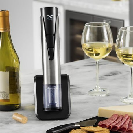 Kalorik 2-in-1 Wine Opener and Preserver, Stainless Steel - image 6 of 8