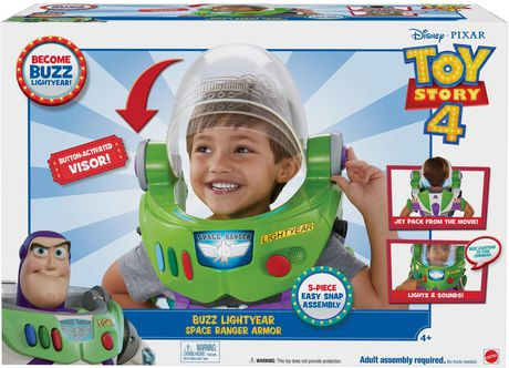 Disney Pixar Toy Story 4 Buzz Lightyear Space Ranger Armor with Jet Pack