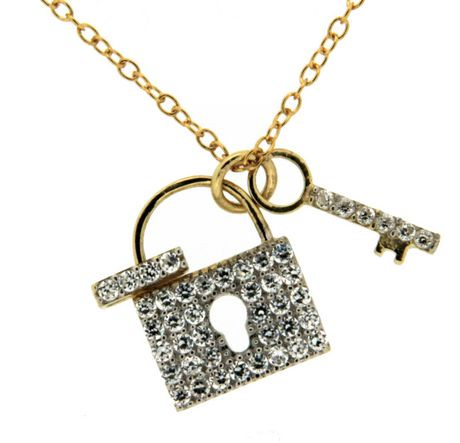 silver p pendant tone key perry necklace s and collection cat lock katy prism nwt