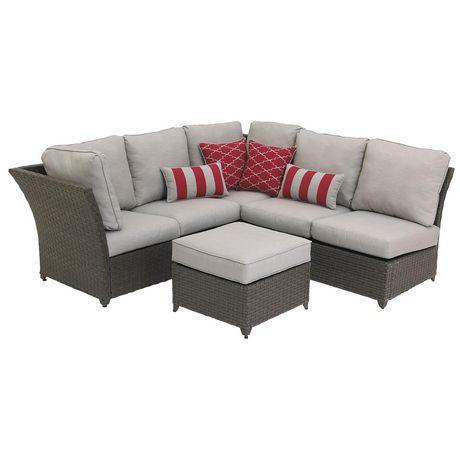 hometrends Rushreed 3-Piece Wicker Sectional Sofa Patio Set - image 3 of 8