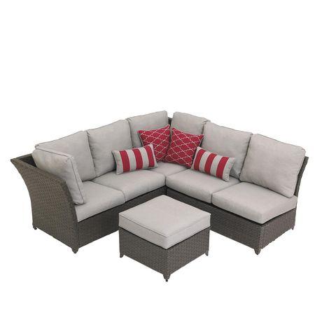hometrends Rushreed 3-Piece Wicker Sectional Sofa Patio Set - image 4 of 8