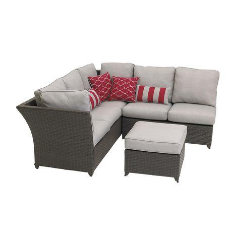 hometrends Rushreed 3-Piece Wicker Sectional Sofa Patio Set - image 5 of 8