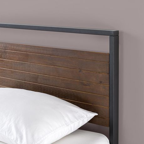 Zinus Suzanne Ironline Metal And Wood Platform Bed With