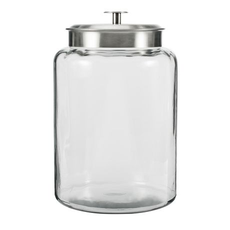 Anchor Hocking 25 Gallons Montana Glass Jar With Stainless Steel