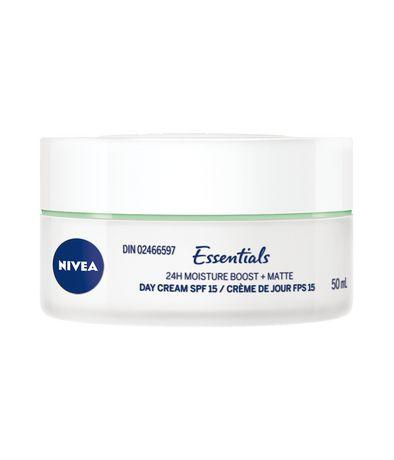 Nivea Essentials 24h Moisture BOOST + Matte Day Cream Spf 15, 50ml - image 3 of 3