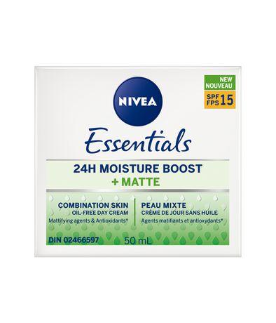 Nivea Essentials 24h Moisture BOOST + Matte Day Cream Spf 15, 50ml - image 2 of 3