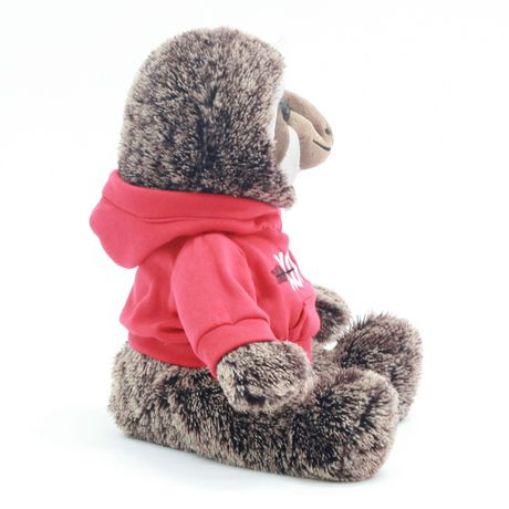 Way to celebrate!  Valentine 15 Inch Lovable Stuffed Plush Sloth With Hoodie - image 2 of 3
