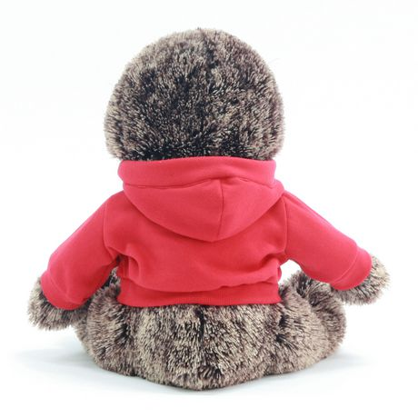 Way to celebrate!  Valentine 15 Inch Lovable Stuffed Plush Sloth With Hoodie - image 3 of 3