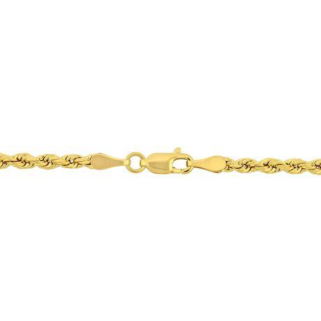 "14K Solide Or Jaune Brillant Diamond Cut Corde Chaîne 2.0 mm Collier 20/"""