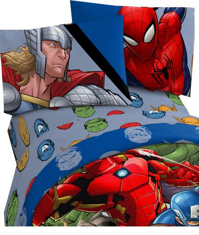 Avengers Fight Club Twin Sheet Set - image 1 of 1