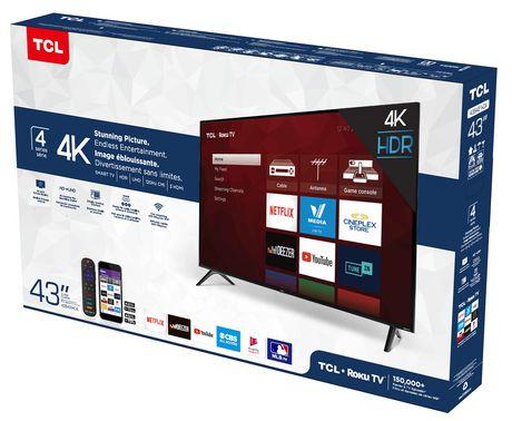 "TCL 43"" CLASS 4-SERIES 4K UHD HDR ROKU SMART TV, 43S421-CA - image 8 of 9"