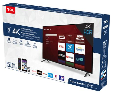 "TCL 50"" CLASS 4-SERIES 4K UHD HDR LED ROKU SMART TV, 50S421-CA - image 8 of 9"