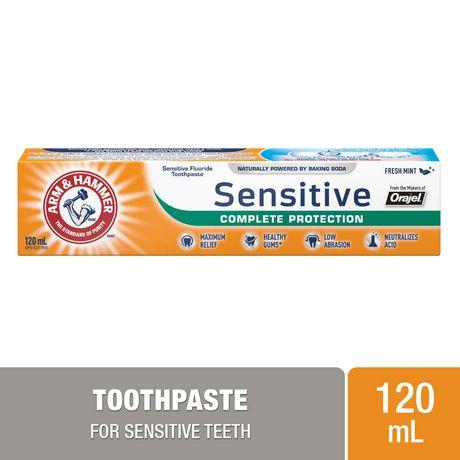 Dentifrice ARM & HAMMER(MC) Sensitive protection complète, 120 ml - image 1 de 2