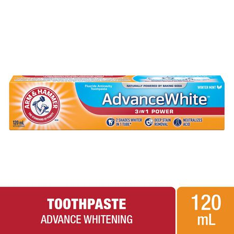 ARM & HAMMER™ Advance White™ 3 in 1 Power Toothpaste, 120mL - image 1 of 2