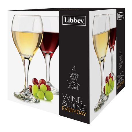 Libbey Glass Wine & Dine Ensemble de Verres à vin de tous les jours, ens. de 4 - image 1 de 2