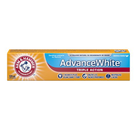 ARM & HAMMER™ Advance White™ 3 in 1 Power Toothpaste, 120mL - image 2 of 2