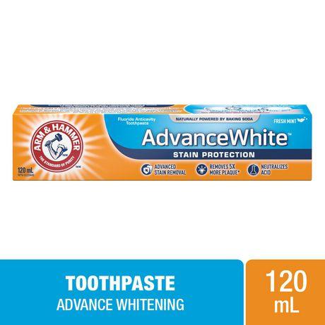 Dentifrice ARM & HAMMER(MC) Advance White (MC) Protection antitache, 120 ml - image 1 de 2