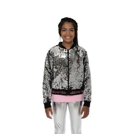 Girls Mini Pop Kids Black Shine Jacket - image 5 of 8