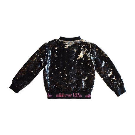 Girls Mini Pop Kids Black Shine Jacket - image 7 of 8