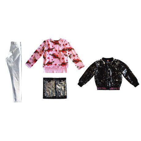 Girls Mini Pop Kids Black Shine Jacket - image 8 of 8