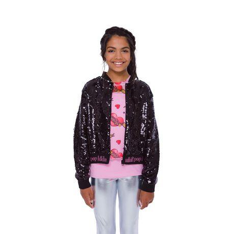 Girls Mini Pop Kids Black Shine Jacket - image 4 of 8